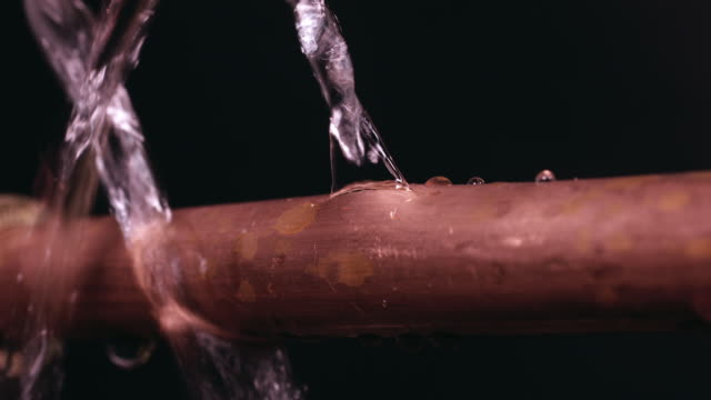 burst water pipe - pipe stock videos & royalty-free footage