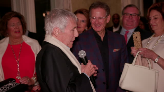speech burt bacharach at kelly fisher katz martin katz host private dinner for the kennedy center's national committee for the performing arts... - performing arts center stock videos & royalty-free footage