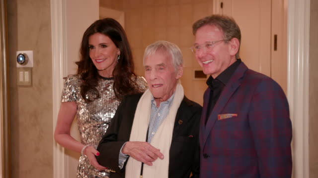 burt bacharach martin katz kelly fisher katz at kelly fisher katz martin katz host private dinner for the kennedy center's national committee for the... - performing arts center stock videos & royalty-free footage