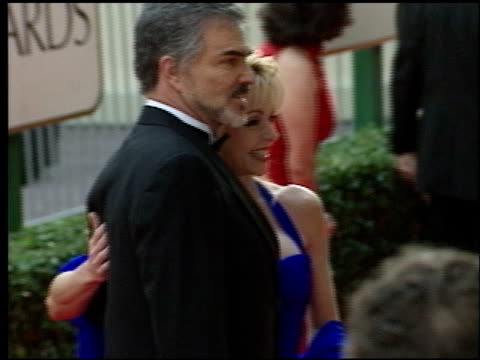burt reynolds at the 1998 golden globe awards at the beverly hilton in beverly hills, california on january 18, 1998. - golden globe awards stock videos & royalty-free footage