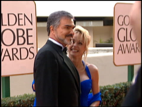 burt reynolds at the 1998 golden globe awards at the beverly hilton in beverly hills california on january 18 1998 - golden globe awards stock videos & royalty-free footage