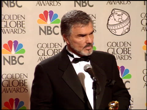 Burt Reynolds at the 1998 Golden Globe Awards at the Beverly Hilton in Beverly Hills California on January 18 1998