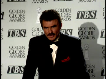 burt reynolds talks about his role in evening shade. - golden globe awards stock videos & royalty-free footage