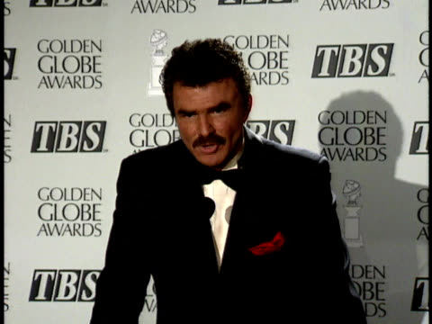 burt reynolds talks about his role in evening shade - golden globe awards stock videos & royalty-free footage