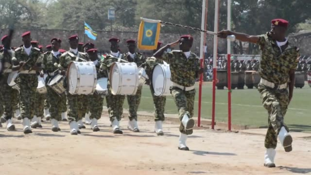 burundi celebrates the 53rd anniversary of its independence with a military parade inviting leaders from various african countries - independence video stock e b–roll