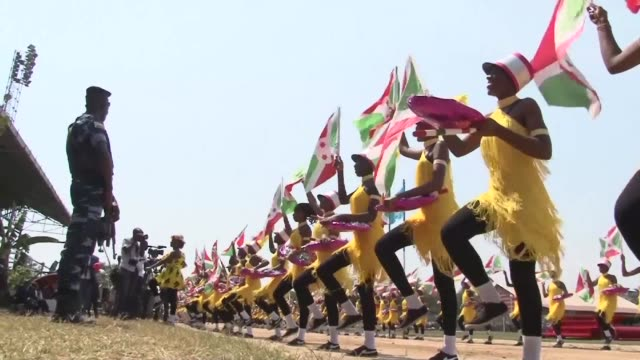 burundi celebrates the 55th anniversary of its independence on saturday in bujumbura - independence video stock e b–roll