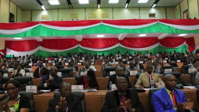 burundi's lower house of parliament overwhelmingly votes to withdraw from the international criminal court after the un began an enquiry into human... - international criminal court stock videos and b-roll footage