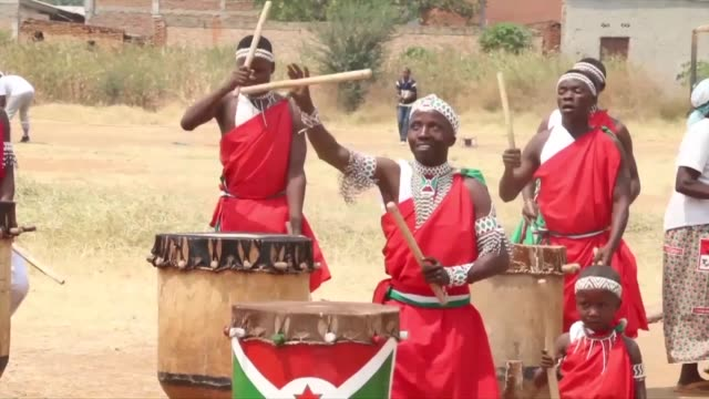 burundi's president pierre nkurunziza has introduced strict controls over the country's renowned drumming rituals banning female drummers and... - drum percussion instrument stock videos & royalty-free footage
