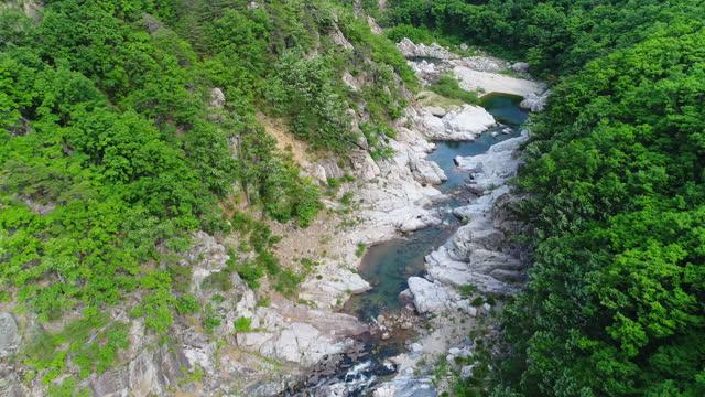 stockvideo's en b-roll-footage met buryeonggyegok valley (gyeongbuk donghaean geopark) / uljin-gun, gyeongsangbuk-do, south korea - narrow