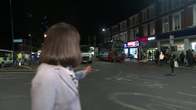 Bus crashes into Kensal Rise estate agents ENGLAND London Kensal Rise Chamberlayne Road EXT Various of double decker bus crashed into Daniel's Estate...
