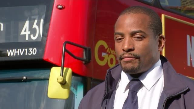 Bus driver hailed hero after woman pushed into road on Putney Bridge by jogger EXT Oliver Salbris interview SOT/ Various of bus driver Oliver Salbris...