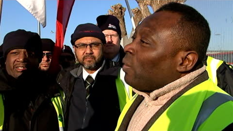 bus drivers strike over pay dispute; george dodo-williams interview sot neil smith interview sot - smith tower stock-videos und b-roll-filmmaterial