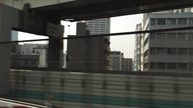 POV Bus driving through Tokyo, Japan