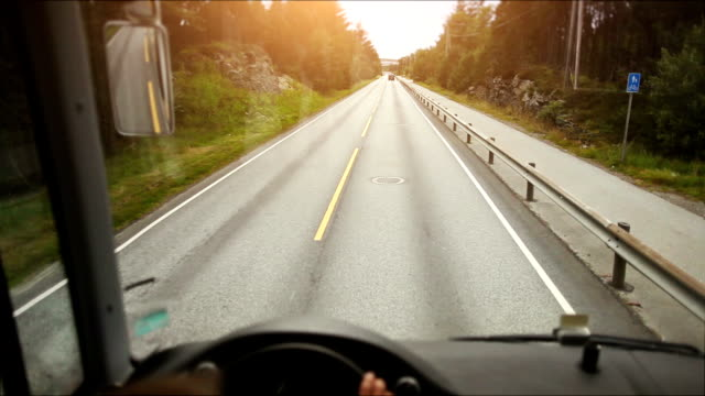 stockvideo's en b-roll-footage met pov bus driving - dubbeldekker bus