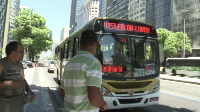 bus fares in rio de janeiro increased to three reais on saturday despite widespread and often violent protests against the price hike clean :... - financial item stock videos & royalty-free footage