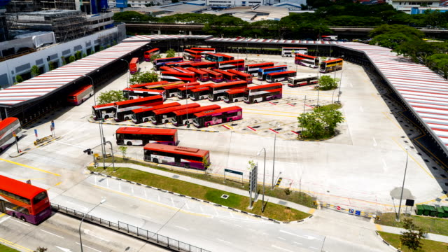 bus interchange - commercial land vehicle stock videos & royalty-free footage