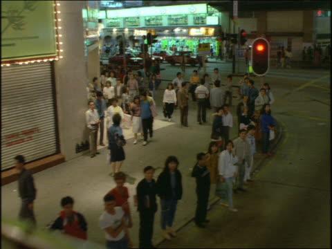 bus point of view on city street at night / hong kong - hong kong stock videos & royalty-free footage