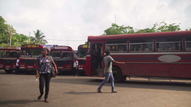 bus station at colombo, sri lanka - newly industrialized country stock videos and b-roll footage