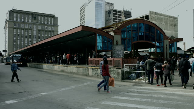 Bus Station of Porto Alegre City