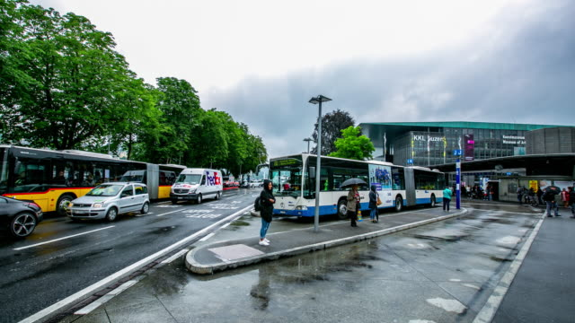 bus station transportation timelapse - bus billboard stock videos & royalty-free footage