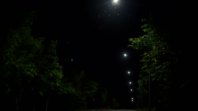 bus stop at night. shot on horror cinema - neighborhood street sign stock videos and b-roll footage