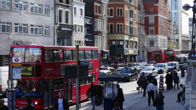 Bus Stop In London Bishopsgate (UHD)