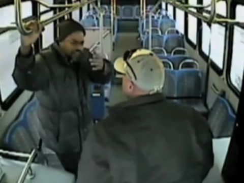 bus surveillance cameras capture the bud driver beating up a passenger after he dares to ask for directions to somewhere bus driver just loses it and... - bus driver stock videos & royalty-free footage