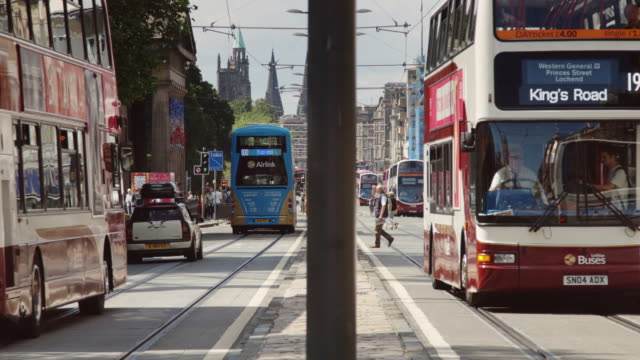 Buses and Pedestrians on Princes Street