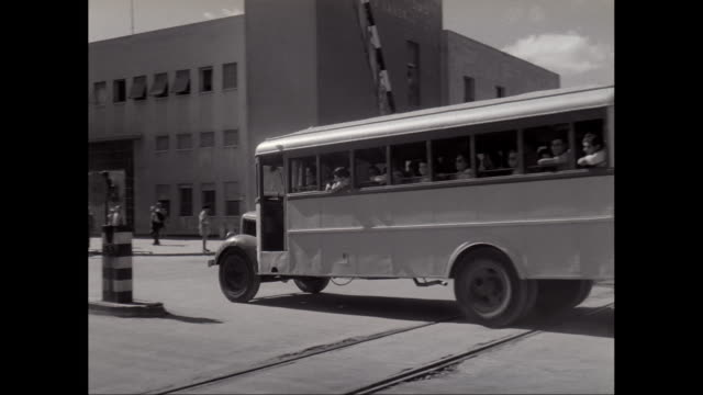 WS Buses leaving from military camp / United States
