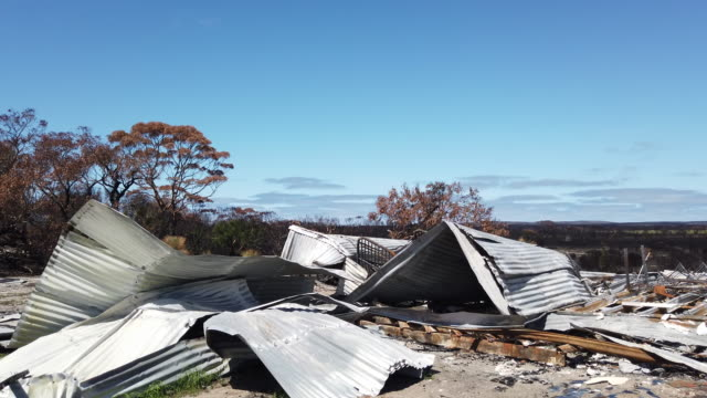 bushfire damaged property is seen at karatta on february 25, 2020 in kangaroo island, australia. over a third of kangaroo island, including much of... - recovery stock videos & royalty-free footage