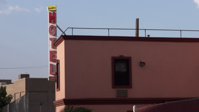 bushwick hotel exterior. - motel stock videos and b-roll footage