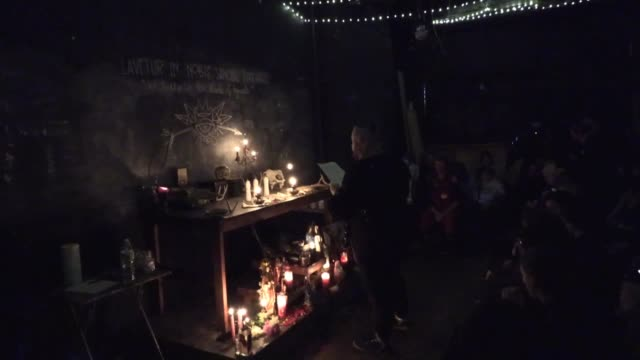 bushwick witches gather at catland bookstore in brooklyn for ritual hex on scotus justice brett kavanaugh - hex climbing equipment stock videos and b-roll footage