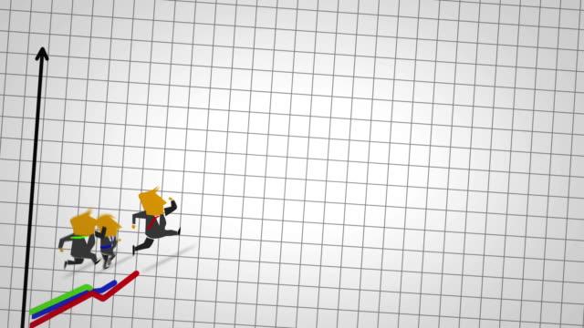 ビジネスの男性がグラフ - 戦い点の映像素材/bロール