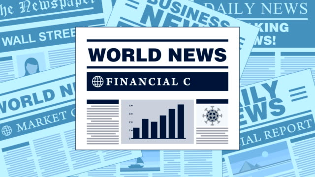 business and finance breaking news newspaper headlines - newspaper headline stock videos & royalty-free footage