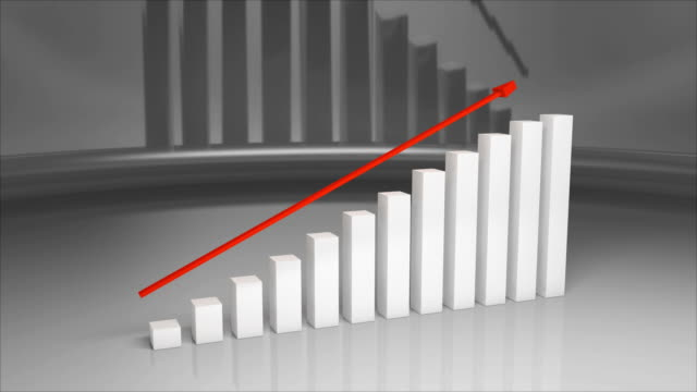 business and finance growth infographic bar graph or chart 3d animation 4k. - moving up stock videos & royalty-free footage