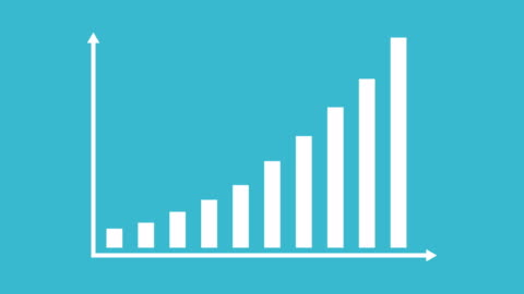 business and finance growth infographic bar graph or chart animation - moving up stock videos & royalty-free footage
