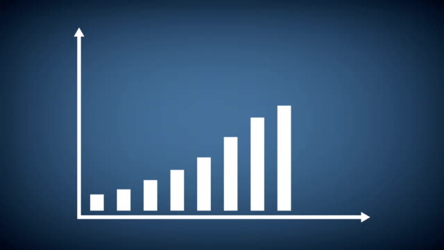 business and finance growth infographic bar graph or chart animation - improvement stock videos & royalty-free footage