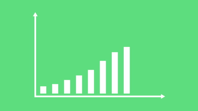 business and finance growth infographic bar graph or chart animation - bar graph stock videos & royalty-free footage
