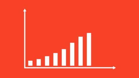 vídeos de stock, filmes e b-roll de negócios e finanças crescimento infográfico bar gráfico ou gráfico animação - realização
