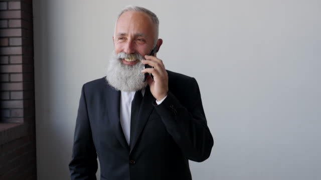 business. bearded businessman talking on the phone - big hair stock videos and b-roll footage