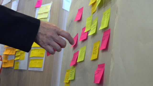vídeos de stock, filmes e b-roll de brainstorming de negócios para novas ideias no escritório - tempestade cerebral