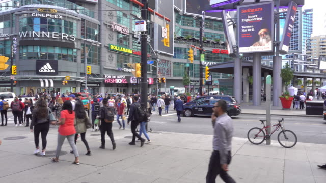 business center in downtown toronto, canada - toronto stock videos & royalty-free footage