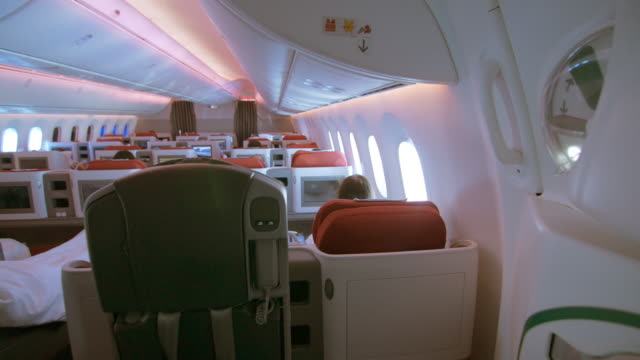 Business class cabin interior