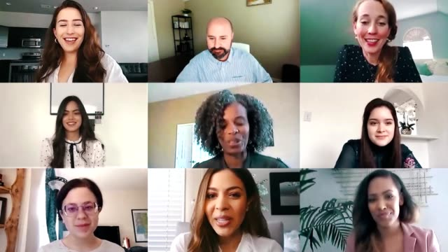 business colleagues participate in virtual staff meeting - diversity stock videos & royalty-free footage