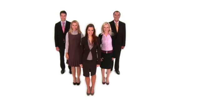 vídeos de stock e filmes b-roll de grou de hd: colegas de trabalho - camisa e gravata