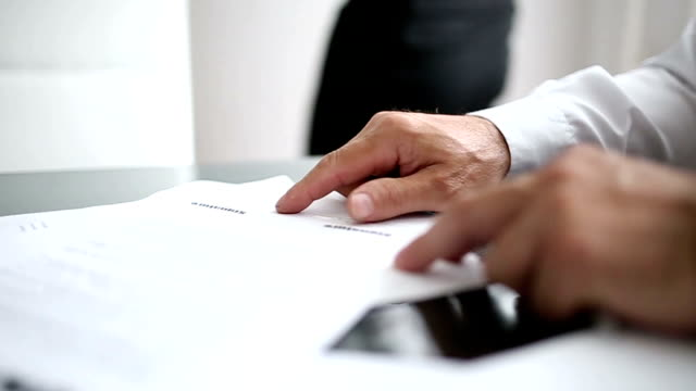 Business contract signing