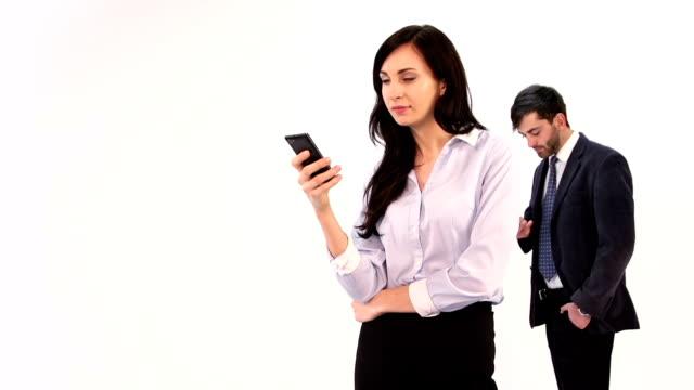 vídeos y material grabado en eventos de stock de pareja de comunicar - camisa y corbata