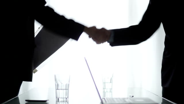 business deal   bs - handshake stock videos and b-roll footage