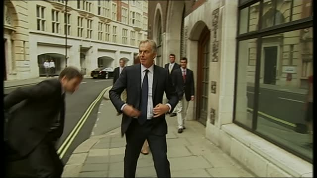 Business dealings of former Prime Ministers T21071434 / TX PHOTOGRAPHY*** Tony Blair from car and into building