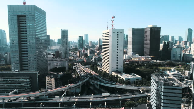business district and cruise ship - tokyo japan stock videos & royalty-free footage